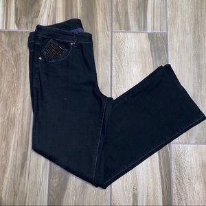 Cache' Studded beaded pocket Bootcut Jeans size 12